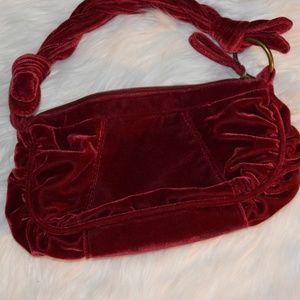 Handbags - Red Velvet Handheld Bag